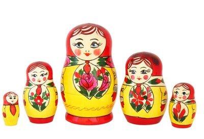 Матрёшка Семеновская «Анюта» (5 кукол)