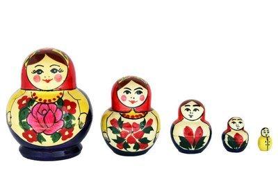 Матрёшка Семеновская «Катюша» 5 кукол