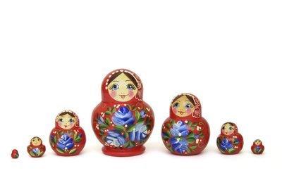 Матрёшка Семеновская «Катюша» 7 кукол