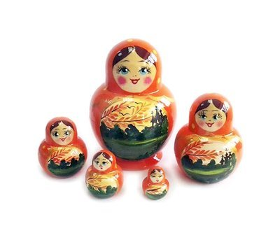 Матрёшка Семеновская «Катюша» осенний пейзаж 5 кукол