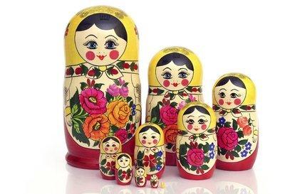 Матрёшка Семеновская «Россияночка» 10 кукол