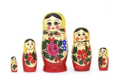 Матрёшка Семеновская «Россияночка» 5 кукол