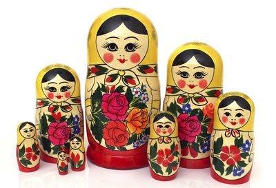 Матрёшка Семеновская «Россияночка» 8 кукол
