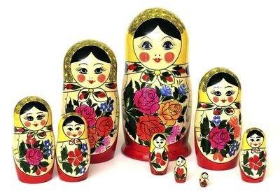 Матрёшка Семеновская «Россияночка» 9 кукол
