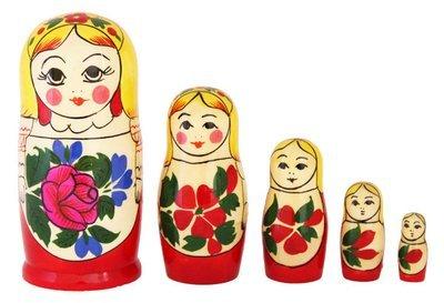 Матрёшка Семеновская «Сударушка» 5 кукол