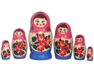Матрёшка Семеновская с нетрадиционной росписью 7 кукол