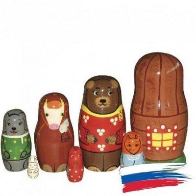 Матрёшка Семёновская авторская «Заячья избушка» 7 кукол