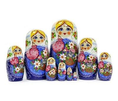 Матрёшка Семёновская авторская роспись 9 кукол
