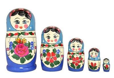 Матрёшка Семёновская «Алёнка» 5 кукол