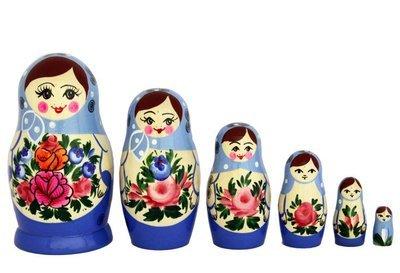 Матрёшка Семёновская с нетрадиционной росписью 6 кукол