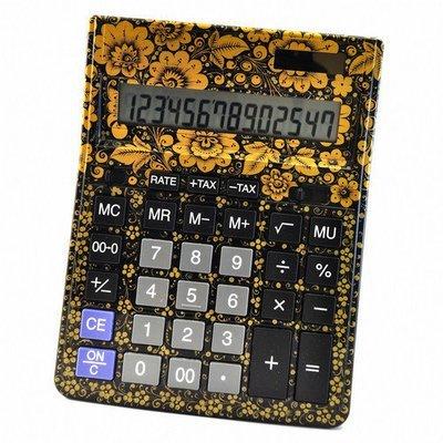 Калькулятор Хохлома, Вернисаж Z013-13, настольный, Citizen