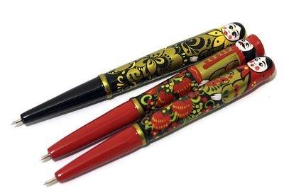 Ручка сувенирная «Матрёшка» с хохломской росписью