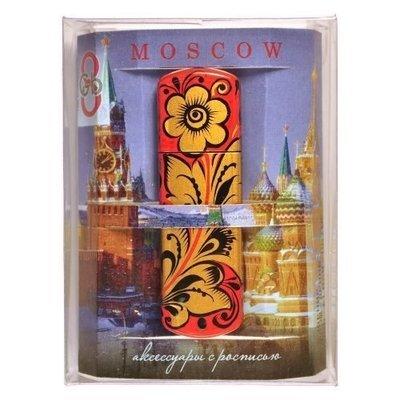 Флешка Хохлома, Вернисаж F009-14 Москва, объем 8Гб, Transcend
