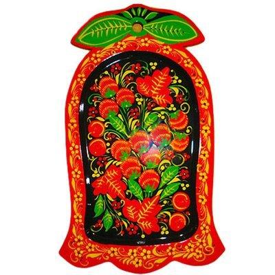 Сухарница «Колокольчик» с хохломской росписью.