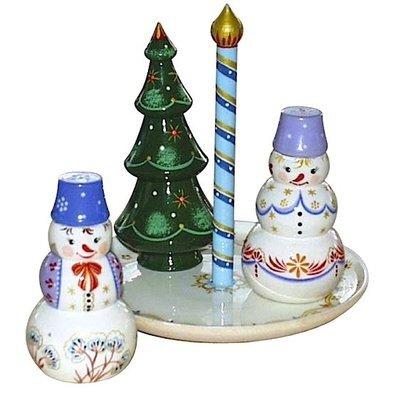 Набор для специй «Новогодний» №3 (4 предмета)