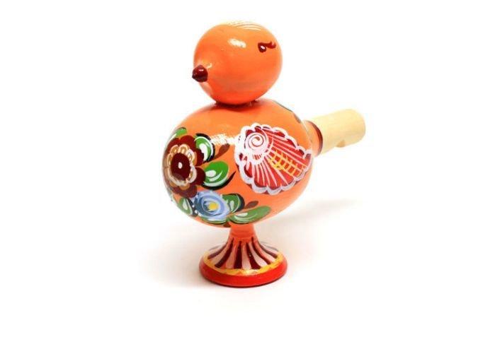 Свисток-Птичка с городецкой росписью C11-1554