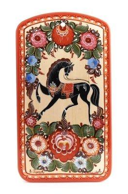 Доска разделочная с городецкой росписью с11-1510