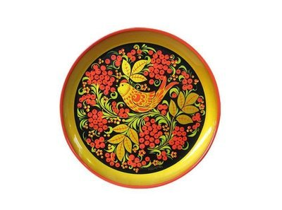 Тарелка-панно 210x21 с хохломской росписью