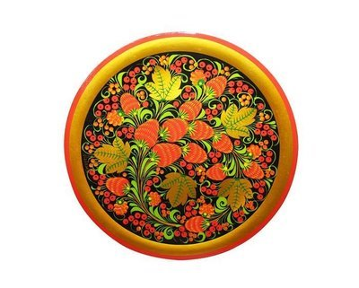 Тарелка-панно 250x20 с хохломской росписью