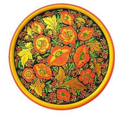 Тарелка-панно 440x20 с хохломской росписью