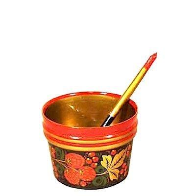 Набор для десерта с хохломской росписью 2 предмета
