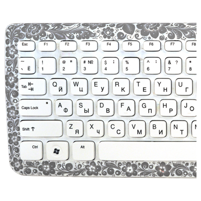 Клавиатура Хохлома, Вернисаж K004-17, проводная слим-клавиатура, Chicony
