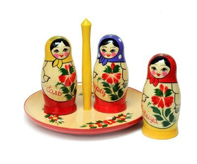 Набор для стола «Матрёшка» 4 предмета