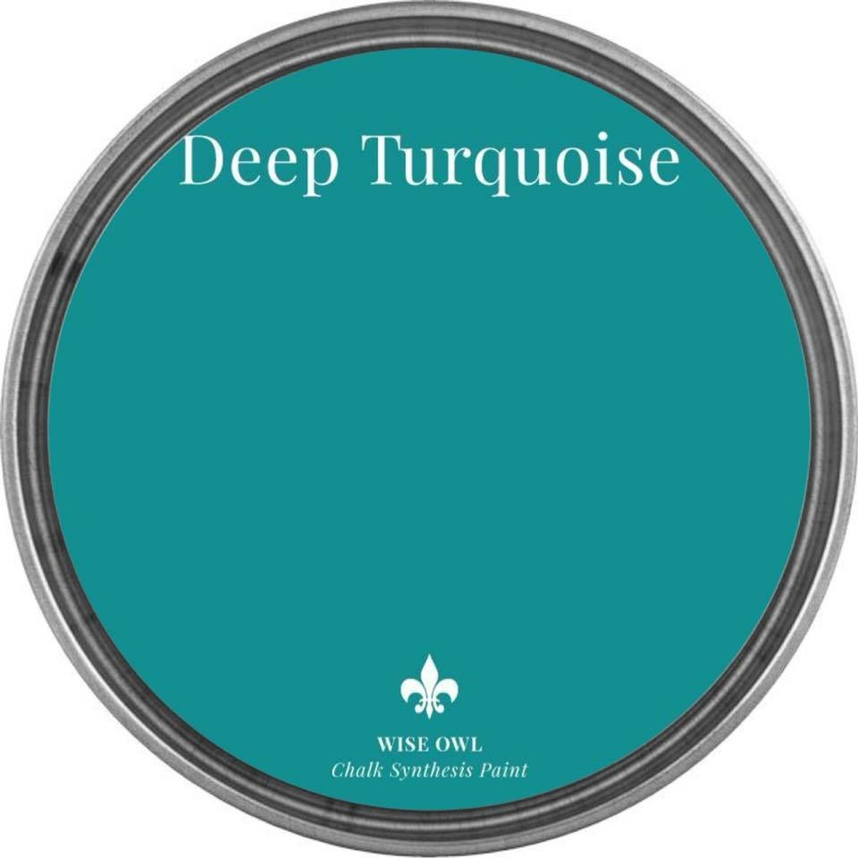 Deep Turquoise Wise Owl Chalk Synthesis Paint - pint (16 oz)