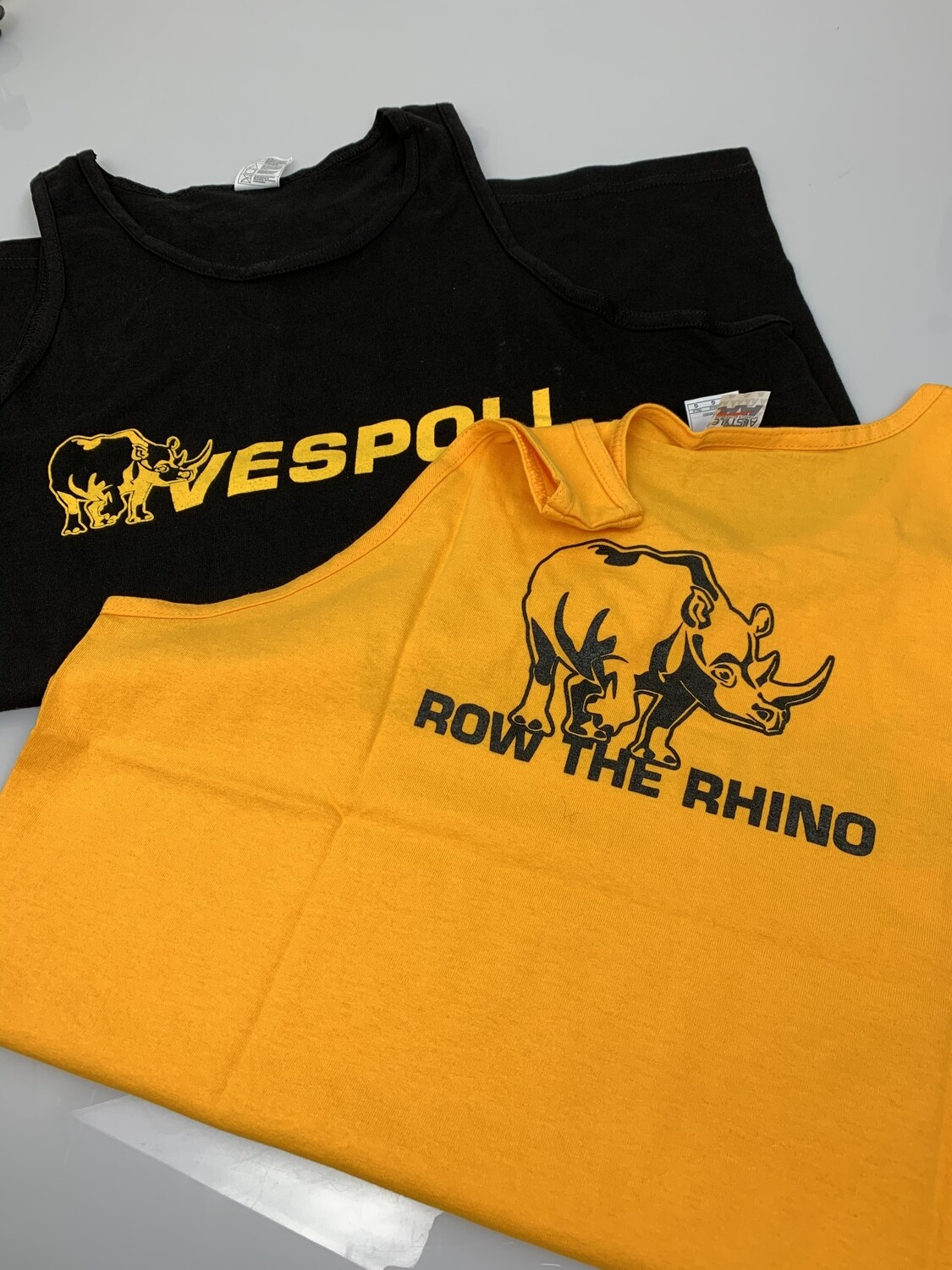 "VESPOLI ""Row the Rhino"" Tank Tops"