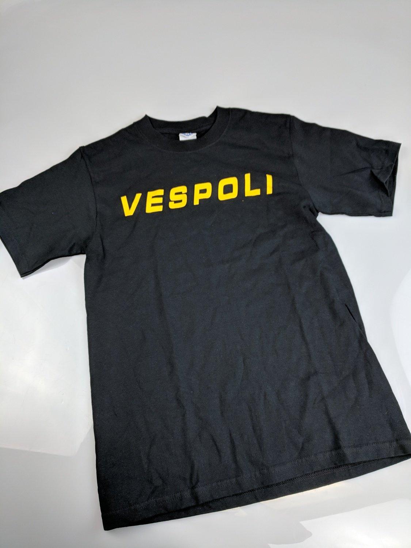 Black VESPOLI T-shirt, Short Sleeve