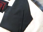 #тканина сорочкова класична (поплін) чорного кольору (Арт. 00489)