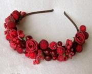 """#Обруч - прикраса на голову дівчини """"Соковиті ягоди"""" (Арт. 00544)"""