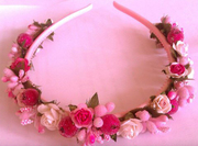 """#Обруч - прикраса на голову дівчини """"Троянди"""" (Арт. 00546)"""