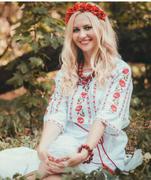 #вишиванка жіноча з квітами на домотканому полотні (Арт. 00507)
