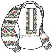 #Заготовка для вишивки жіночої сорочки (СЖ-68)