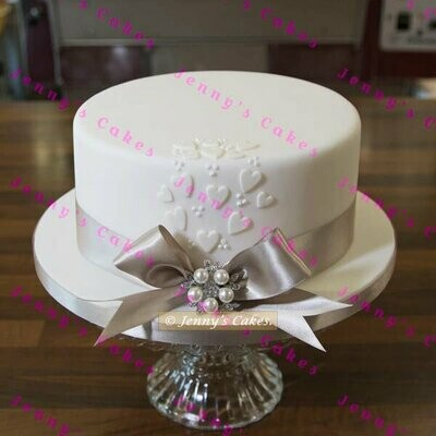 gretna one-tier Vintage style Wedding Cake
