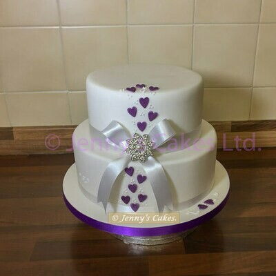 gretna two-tier Vintage style Wedding Cake