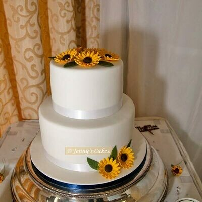 Gretna Two-tier Wedding Cake With Sugar Gerberas