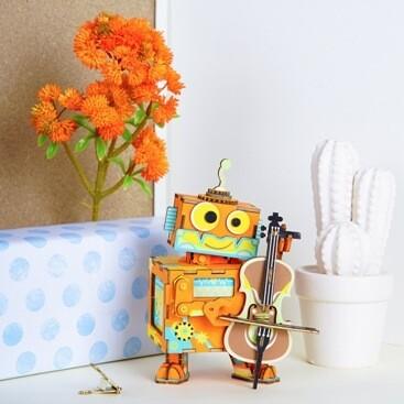 Деревянный 3D конструктор Robotime AMD53 Маленький музыкант