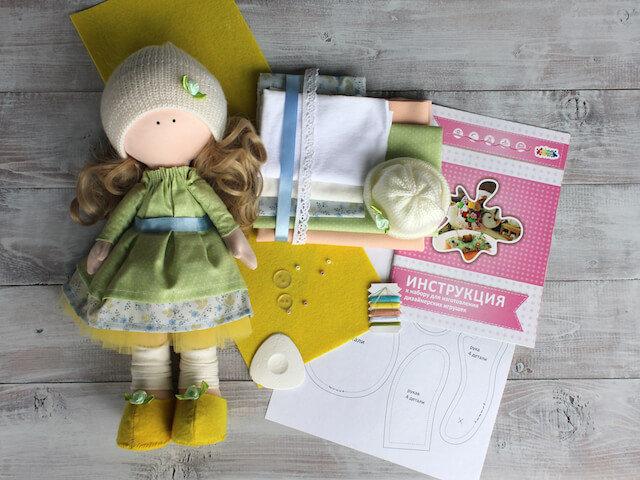 Набор ТМ Цветной для изготовления текстильной игрушки DI043 Принцесса Вероника (35 см)