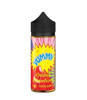 CREAMY STRAWBERRY - YUMMY 80ml in flacone da 100ml