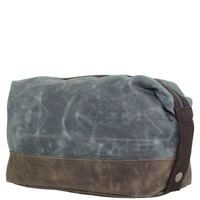 Slate Distressed Dopp Kit