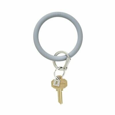 Light Grey Silicone Key Rings
