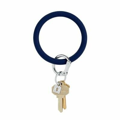 Navy Silicone Key Ring