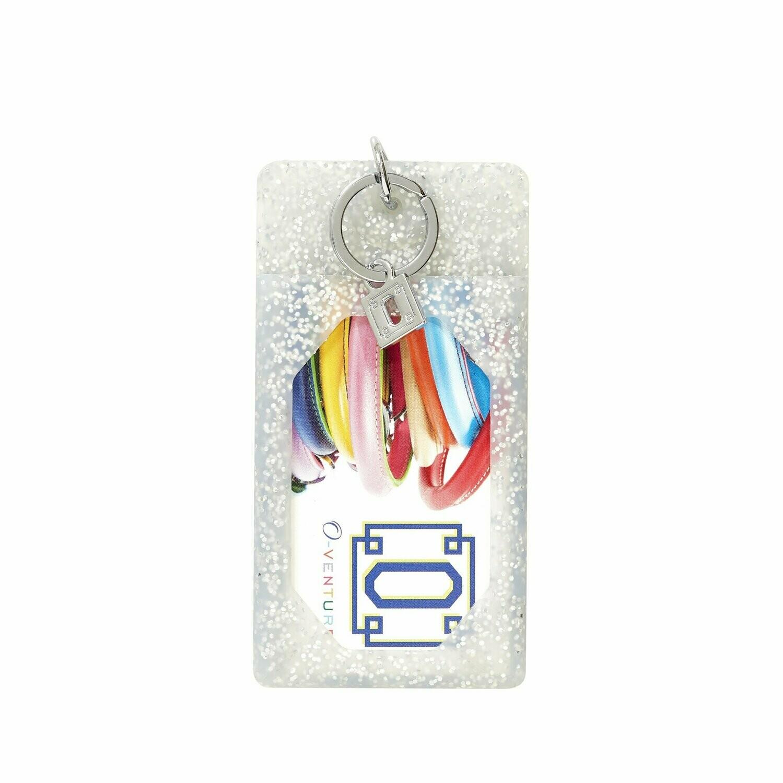 Silver Confetti ID Case