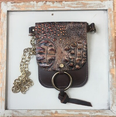 Belt Bag Brown Croc