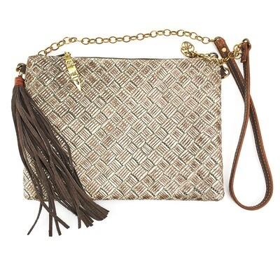 Envelope Crossbody Basket Weave
