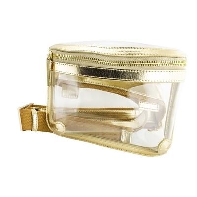 Clear Belt Bag-Gold