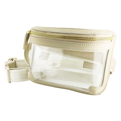 Clear Belt Bag-Tan