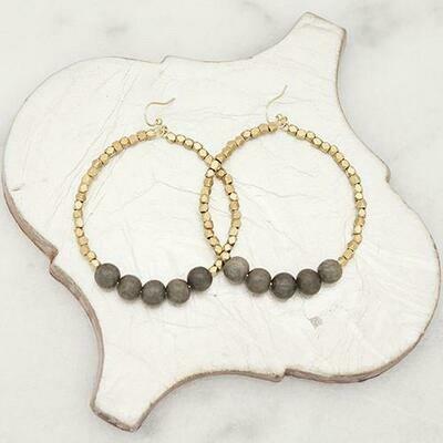 Grey Golden Row Earrings